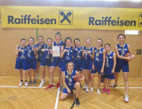 Basketball Unterstufe Mädchen: Neuformiertes Team zeigt gleich große auf und wird Landesmeister