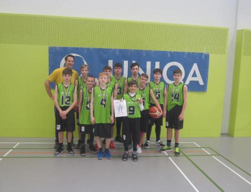 Basketball Unterstufe Burschen: Mit einer kämpferischen Topleistung zum 6.Titel der Saison