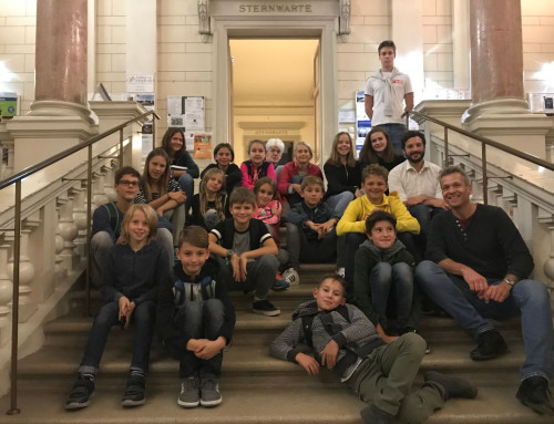 Exkursion der Astronomiegruppe zur Universitätssternwarte am 1. Oktober 2019